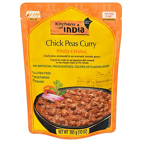 Kitchens Of India Chick Peas In Curry - 10 Oz