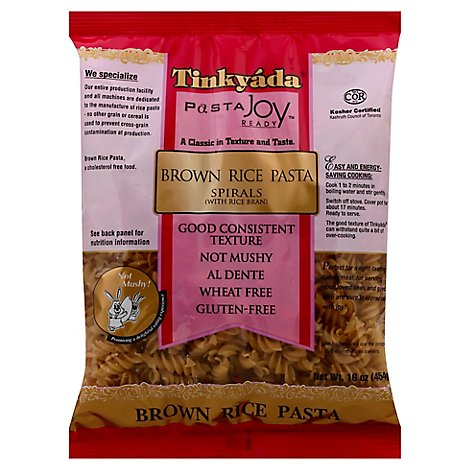 Tinkyada Pasta Joy Ready Brown Rice Pasta Spirals Bag - 16 Oz