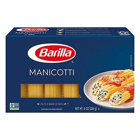 Barilla Pasta Manicotti No. 388 Box - 8 Oz