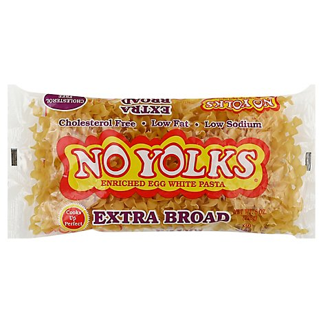 No Yolks Pasta Enriched Egg White Extra Broad - 8 Oz
