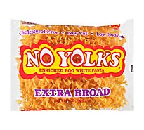 No Yolks Pasta Enriched Egg White Extra Broad - 12 Oz