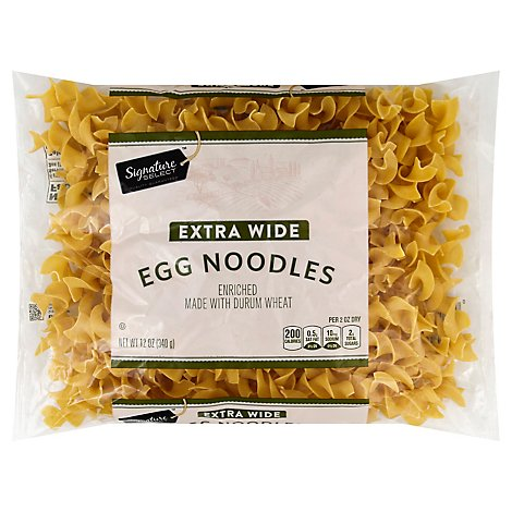 Signature SELECT Pasta Egg Noodles Extra Wide Bag - 12 Oz