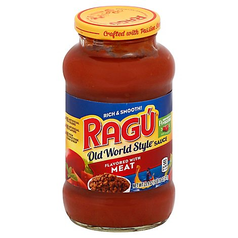 RAGU Old World Style Pasta Sauce Flavored with Meat Jar - 23.9 Oz