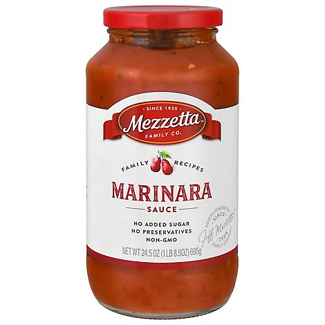 Mezzetta Napa Valley Homemade Sauce Marinara Jar - 25 Oz