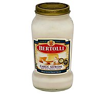 BERTOLLI Pasta Sauce Garlic Alfredo with Aged Parmesan Cheese Jar - 15 Oz