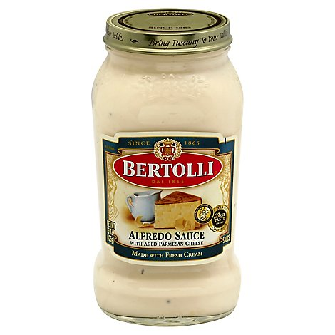 BERTOLLI Pasta Sauce Alfredo with Aged Parmesan Cheese Jar - 15 Oz