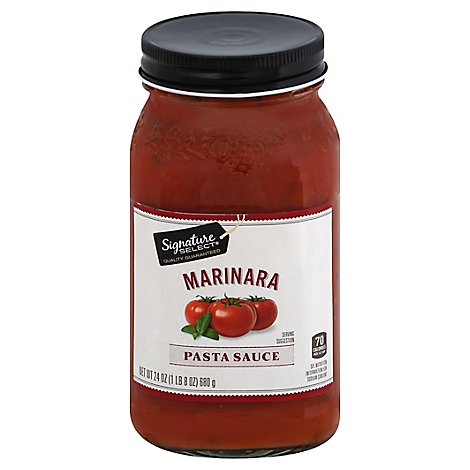 Signature SELECT Pasta Sauce Marinara Jar - 24 Oz