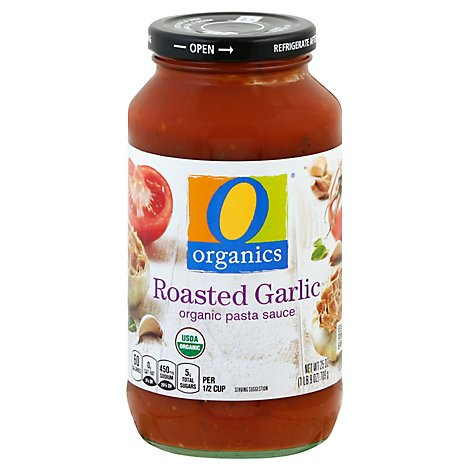 O Organics Organic Pasta Sauce Roasted Garlic - 25 Oz