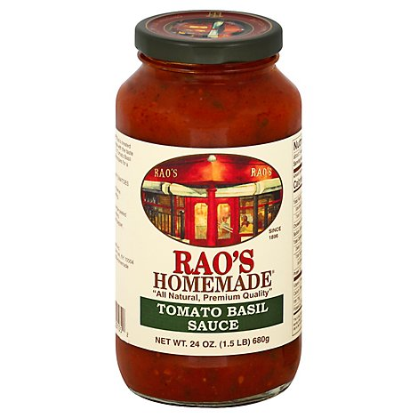 Raos Homemade Sauce Marinara with Fresh Basil Tomato Basil Jar - 24 Oz