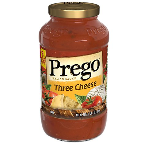 Prego Italian Sauce Three Cheese - 24 Oz