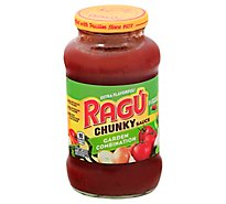 RAGU Chunky Pasta Sauce Garden Combination Jar - 24 Oz