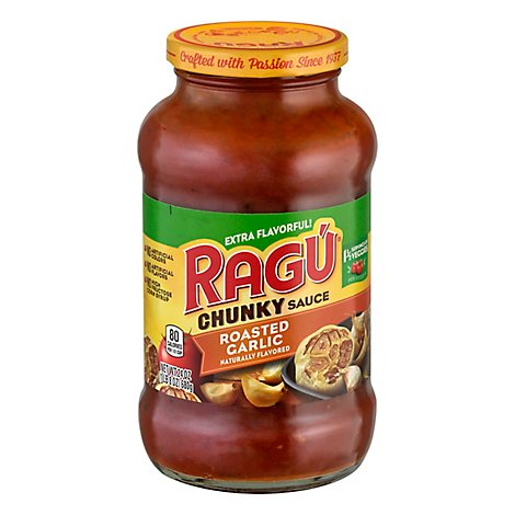RAGU Chunky Pasta Sauce Roasted Garlic Jar - 24 Oz