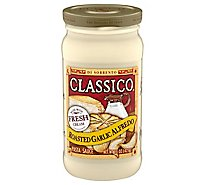 Classico Pasta Sauce Alfredo Roasted Garlic Jar - 15 Oz