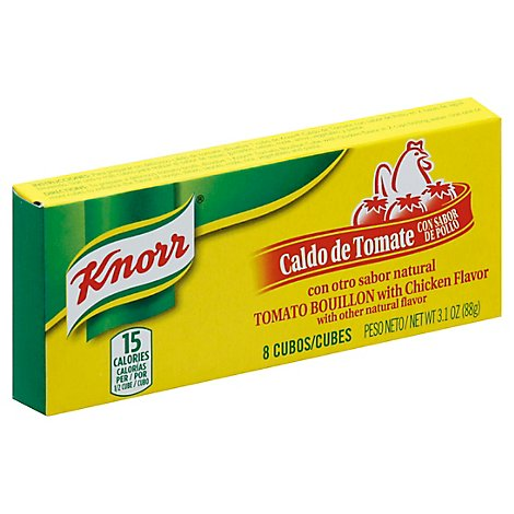 Knorr Cubes Bouillon Tomato With Chicken Flavor Box 8 Count - 3.1 Oz