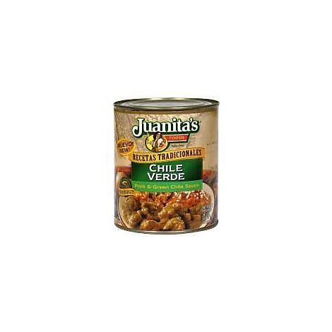 Juanitas Foods Food Chile Verde Pork & Green Chile Sauce Can - 29.5 Oz