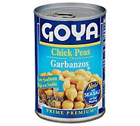 Goya Peas Chick Premium Low Sodium Can - 15.5 Oz