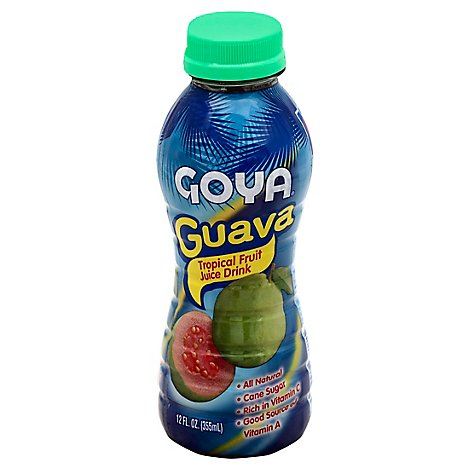 Goya Juice Drink Tropical Fruit Guava Bottle - 12 Fl. Oz.