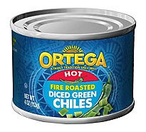 Ortega Fire Roasted Diced Green Chiles - 4 Oz