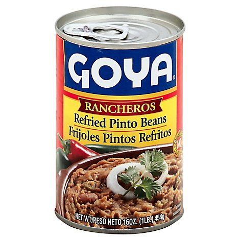 Goya Beans Refried Pinto Rancheros Can - 16 Oz