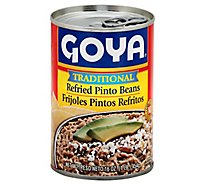 Goya Beans Pinto Refried Traditional - 16 Oz