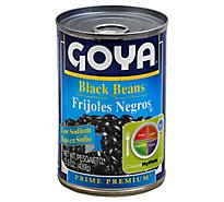 Goya Prime Premium Beans Black Low Sodium Can - 15.5 Oz