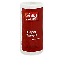 Value Corner Paper Towels Vari A Size 2 Roll Ply Sheets Wrapped - Each