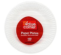 Pantry Essentials Paper Plates Microwave Safe 9 Inch Wrapper - 100 Count