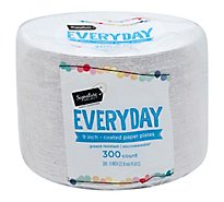Signature SELECT Plates Paper Everyday Coated 9 Inch White - 300 Count