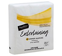 Signature SELECT Napkins 3 Ply Premium Dinner - 40 Count
