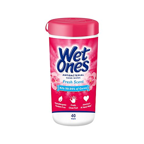 Wet Ones Hand Wipes Antibacterial Fresh Scent - 40 Count
