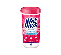 Wet Ones Hands & Face Wipes Antibacterial Fresh Scent - 40 Count