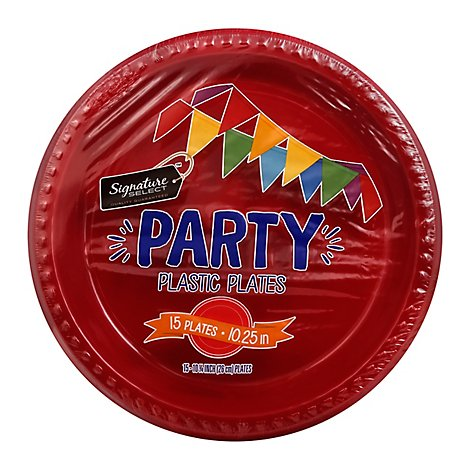 Signature SELECT/Home Plates Plastic Party 10.25 Inch - 15 Count