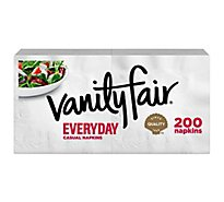 Vanity Fair Everyday Casual Napkins White Paper 2 Ply - 200 Count