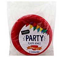 Signature SELECT Bowls Plastic Party Blue 12 Ounces Wrapper - 24 Count