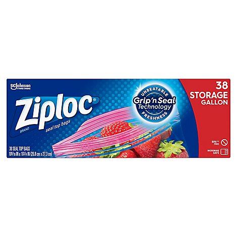 Ziploc Storage Bags Gallon 38 ct