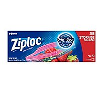 Ziploc Seal Top Storage Bags Gallon - 38 Count