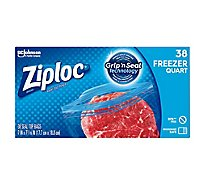 Ziploc Seal Top Freezer Bags Quart - 38 Count