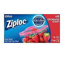 Ziploc Storage Bags Quart 48 ct