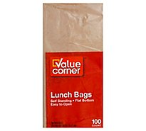 Value Corner Bags Lunch Self Standing - 100 Count