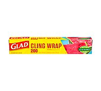 Glad Plastic Wrap Cling Wrap 200 Sq. Ft. - Each