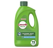 Cascade Dishwasher Detergent Gel Original Fresh Scent - 75 Oz