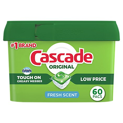Cascade Dishwasher Detergent ActionPacs Fresh Scent - 60 Count