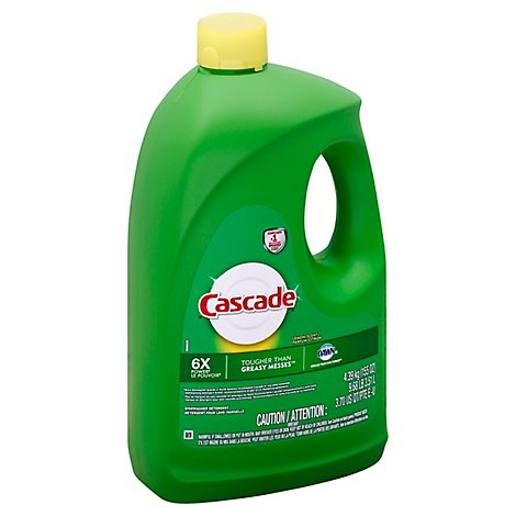 Cascade Dishwasher Detergent Gel Original Lemon Scent - 155 Oz