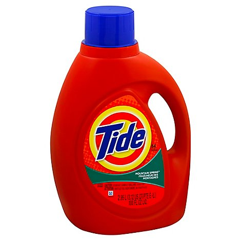 Tide Laundry Detergent Liquid Mountain Spring - 100 Fl. Oz.