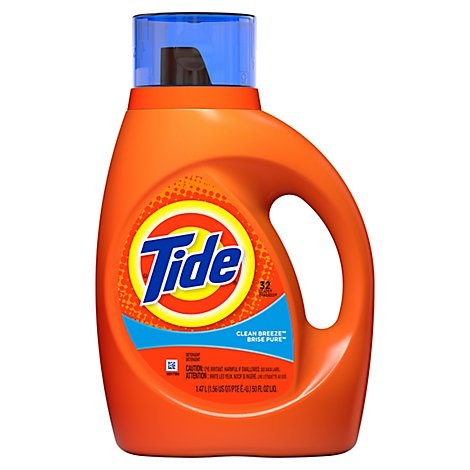 Tide Liquid Detergent Clean Breeze Jug - 50 Fl. Oz.