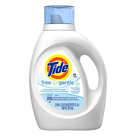 Tide Liquid Detergent Free & Gentle Jug - 100 Fl. Oz.