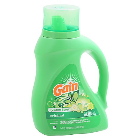 Gain Plus Aroma Boost Laundry Detergent Liquid Original 32 Loads - 50 Fl. Oz.