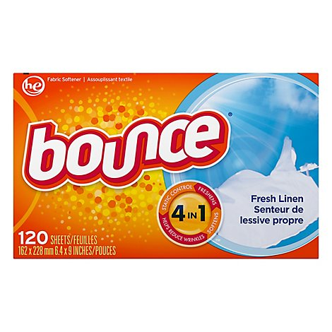 Bounce Fabric Softener 4 In 1 Fresh Linen - 120 Count