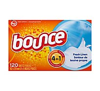 Bounce Fabric Softener Sheets Fresh Linen - 120 Count