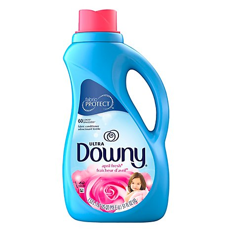 Downy Ultra Fabric Conditioner Liquid April Fresh 60 Loads - 51 Fl. Oz.